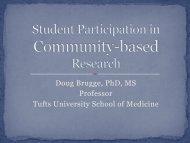 Doug Brugge PhD MS Professor Tufts University School of Medicine