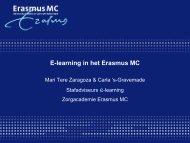 E-learning in het Erasmus MC e-learning