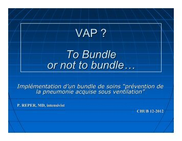 VAP ? To Bundle or not to bundle…
