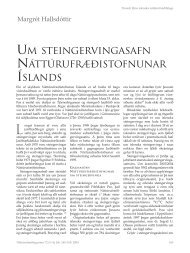 UM NÁTTÚRUFRÆÐISTOFNUNAR ÍSLANDS