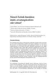Mensch-Technik-Interaktion: intuitiv ... - MMI-Interaktiv