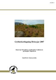 Gróðurkortlagning Hríseyjar 2007