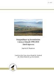 Þungmálmar og brennisteinn í mosa á Íslandi 1990-2010 Áhrif iðjuvera