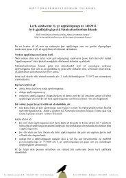 Leyfi, samkvæmt 31. gr. upplýsingalaga nr. 140/2012 fyrir gjaldfrjáls ...