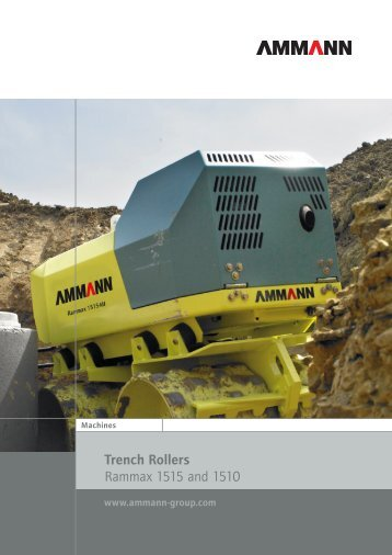 Trench Rollers Rammax 1515 and 1510