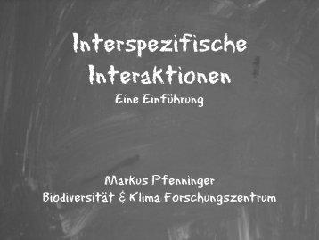 Vorlesungsfolien Interspezifische Interaktionen