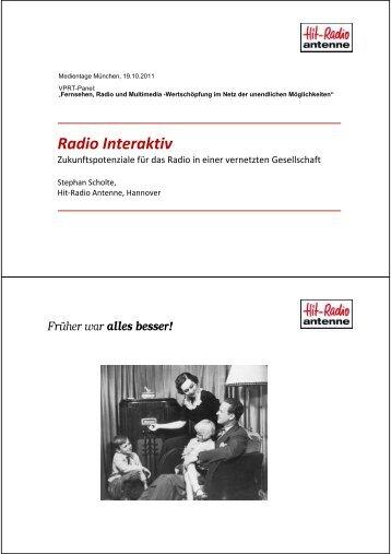Radio Interaktiv - Medientage München