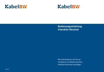 Bedienungsanleitung Interaktiv Receiver - Kabel BW