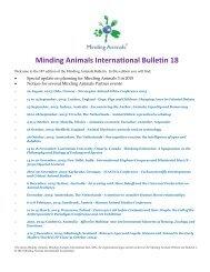 Minding Animals International Bulletin 18