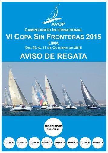 AVISO DE REGATA – VI COPA SIN FRONTERAS 2015 (REV.5) 1
