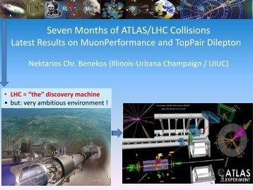 Seven Months of ATLAS/LHC Collisions