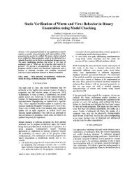 of Worm and Virus Behavior in Binary Executables using Model Checking