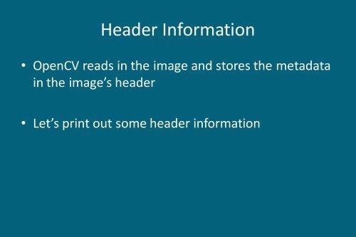 Header Information