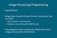 Image Processing Programming