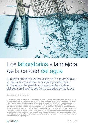 Los laboratorios y la mejora de la calidad del agua
