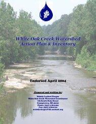 White Oak Creek Watershed Action Plan & Inventory