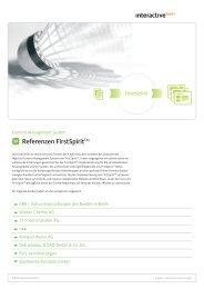 FirstSpirit High End CMS. FirstSpirit | PDF - interactive tools GmbH
