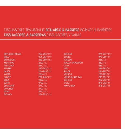 DISSUASORES & BARREIRAS DISSUASORES Y VALLAS