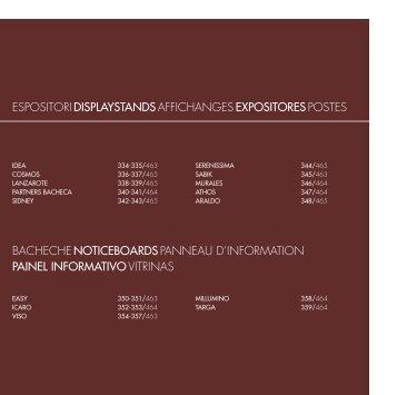 BACHECHE NOTICEBOARDS PANNEAU D'INFORMATION PAINEL INFORMATIVO VITRINAS