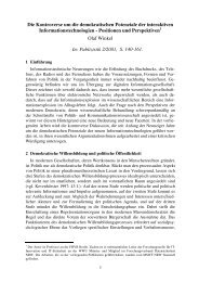 Die Kontroverse um die demokratischen Potenziale ... - HWR Berlin