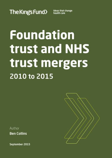 trust mergers