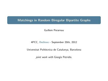 Matchings in Random Biregular Bipartite Graphs