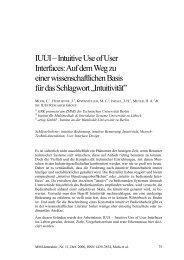 IUUI – Intuitive Use of User Interfaces: Auf dem Weg ... - MMI-Interaktiv