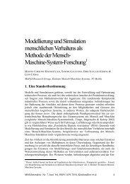Modellierung und Simulation menschlichen ... - MMI-Interaktiv