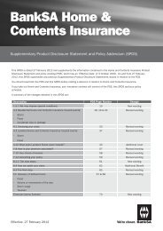 BankSA Home & Contents Insurance