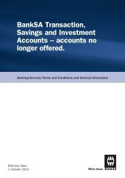 Savings and Investment Accounts – accounts no longer offered