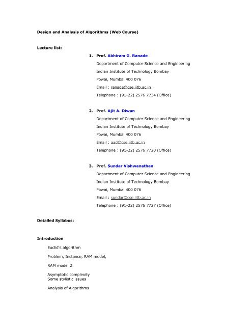 Asymptotic Complexity Some Stylistic Issues Analysis Of Algorithms