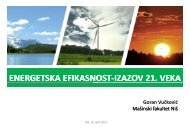 ENERGETSKA EFIKASNOST‐IZAZOV IZAZOV 21 VEKA