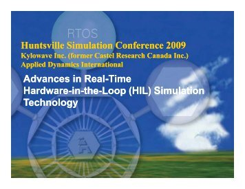 Tutorial on Advances in Real-Time Hardware-in-the ... - Kylowave