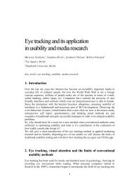 2. Eye tracking, visual attention and the limits of ... - MMI-Interaktiv