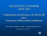 Resolvedores de MATLAB para Sistemas de Ecuaciones ...