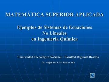 Ejemplos de Sistemas de Ecuaciones No Lineales - Modelado en ...