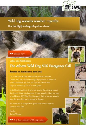 The African Wild Dog SOS Emergency Call