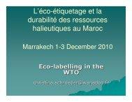 L'éco-étiquetage et la durabilité des ressources halieutiques au Maroc