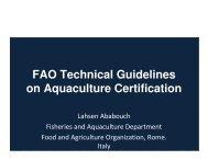 on Aquaculture Certification