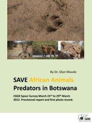 SAVE African Animals Predators in Botswana
