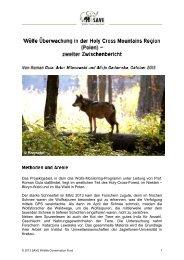 Roman Gula - SAVE Wildlife Conservation Fund