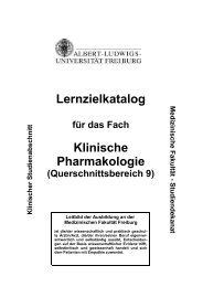 Lernzielkatalog Klinische Pharmakologie - Medizinische Fakultät ...