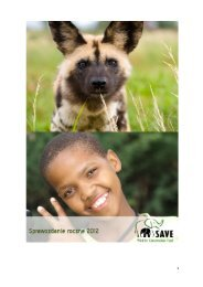 PDF-Download - SAVE Wildlife Conservation Fund