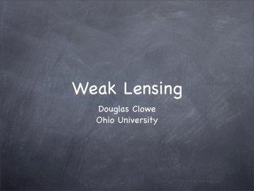Weak Lensing