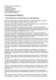 Forschungsbericht 2006-2011 - Prof. Dr. Heinz Schumann