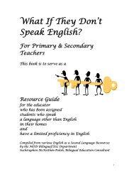 What If They Don't Speak English? - Macomb Intermediate School ...