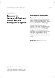 Concepts for Integrated Electronic Health Records Management System