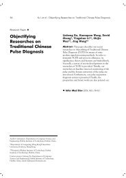 Objectifying Researches on Traditional Chinese Pulse Diagnosis