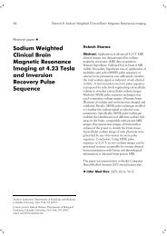 Sodium Weighted Clinical Brain Magnetic Resonance Imaging at ...