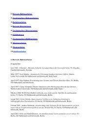 1) Betreute Diplomarbeiten - Informatik - Freie Universität Berlin